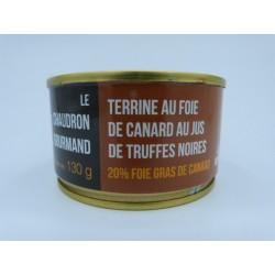 Terrine au foie de canard au jus de truffes noires