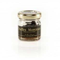 Truffes morceaux tuber melanosporum - Maison de la Truffe d'Occitanie