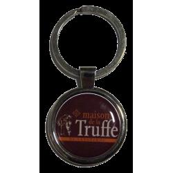 Porte-clefs en métal, rond - Maison de la Truffe d'Occitanie