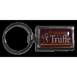 Porte-clefs en métal, rectangle - Maison de la Truffe d'Occitanie